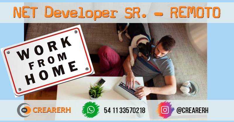 NET Developer SR. REMOTO (Contract)