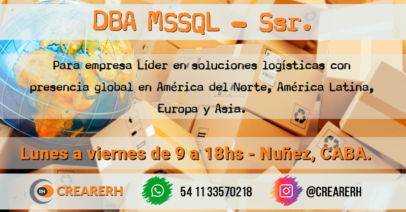 Analista DBA MSSQL SSR. (Hire)