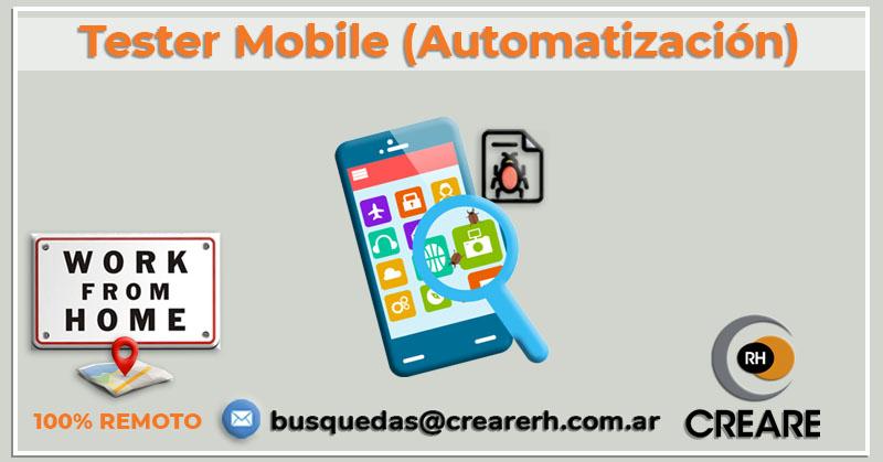 Tester Mobile con automatización (Hire)