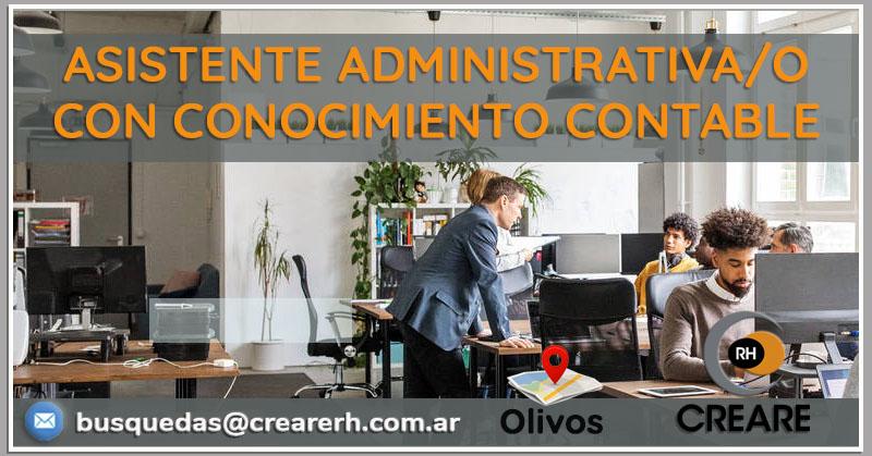 Asistente administrativa/o contable (Hire)
